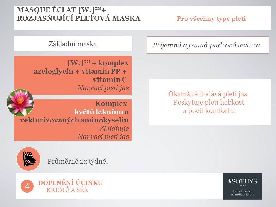 MASQUE ÉCLAT [W.]™+ ROZJASŇUJÍCÍ PLEŤOVÁ MASKA Pro všechny typy pleti. Základní maska.